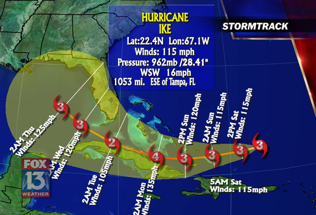 hurricane path