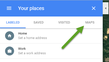 Google Maps Your Places