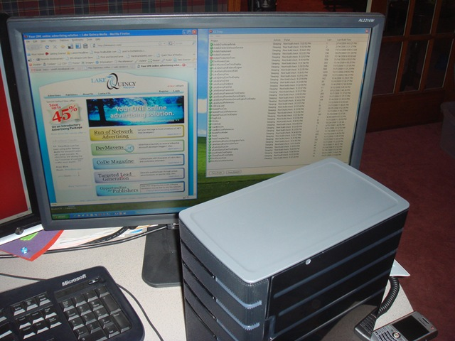 home server on desk