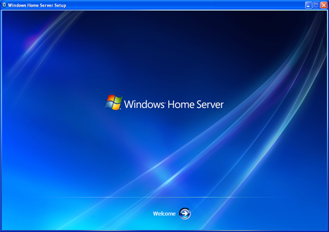 windows home server splash screen