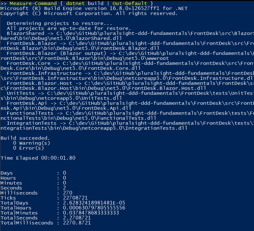 PowerShell Measure-Command with output piped to Out-Default
