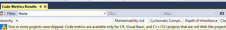 featured image thumbnail for post Calculate Code Metrics in VS2017 for Core and Standard Projects
