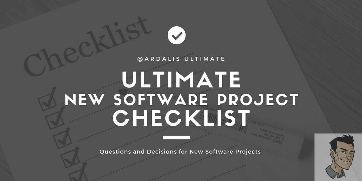 New Software Project Checklist