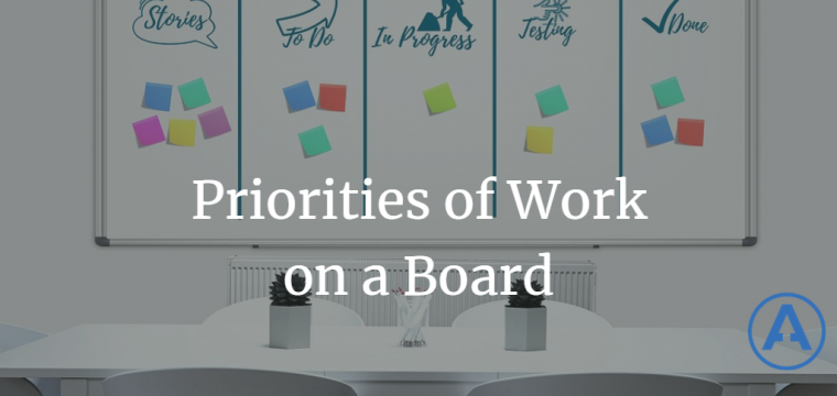 Priorities of Work on a Board