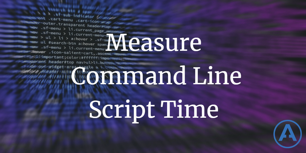 How to measure elapsed time of command line tools using PowerShell